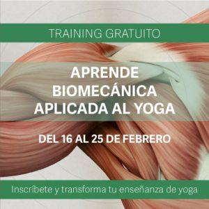 training gratuito de biomecánica aplicada al yoga